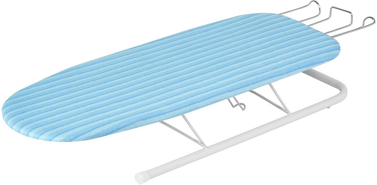 Honey Can Do BRD 01435 Collapsible Tabletop Ironing Board With Pull Out Iron  Rest