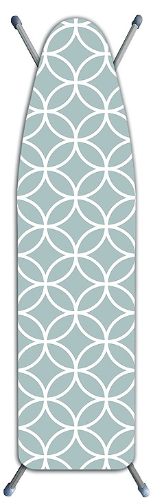 Laundry Solutions by Westex Deluxe Extra Thick Circles Ironing Board Cover Gray