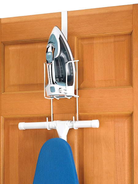 Chrome Whitmor Wire Over The Door Ironing Caddy Ironing Board Hanger