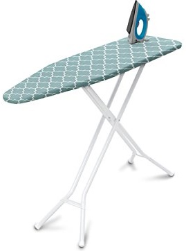 Homz 4-Leg Steel Top Ironing Board