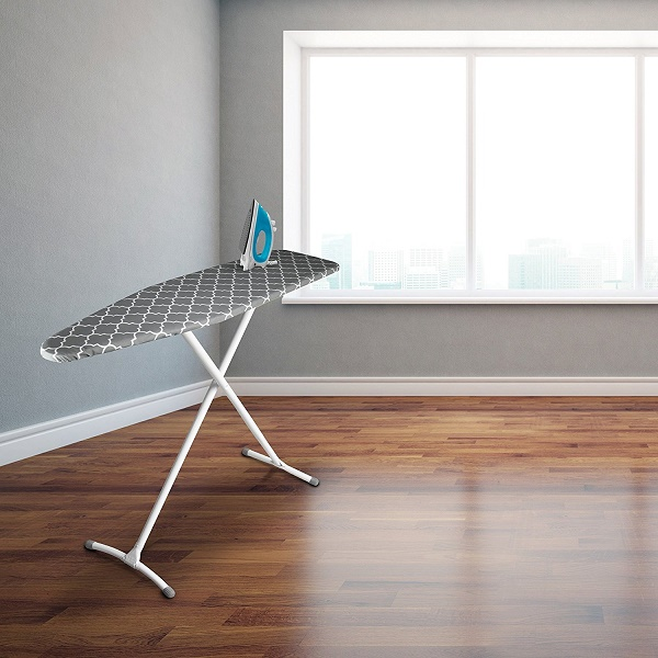 Homz Contour Steel Top Ironing Board in use