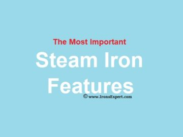 the most important steam iron features