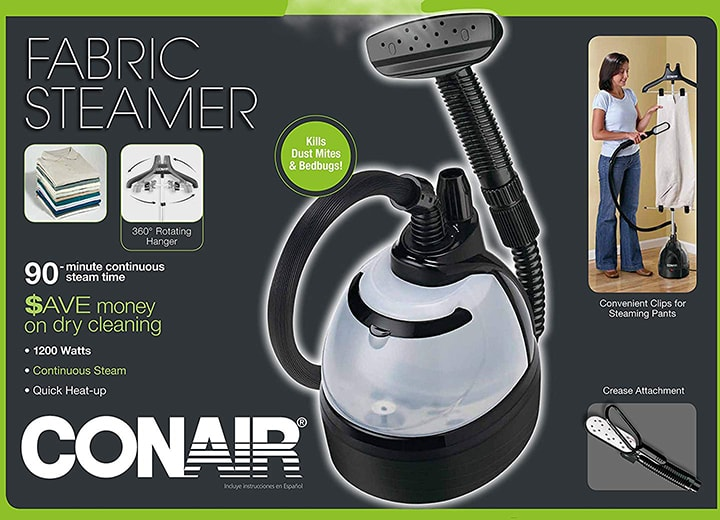 Conair GS100 Home Upright Fabric Steamer features label-min