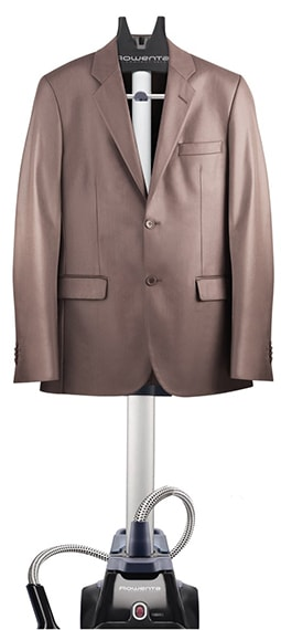 Rowenta IS6200 Compact Valet Full Size Garment Steamer blazer hanging-min